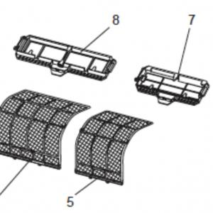 Filter set to Mitsubishi MSZ-FD heat pump